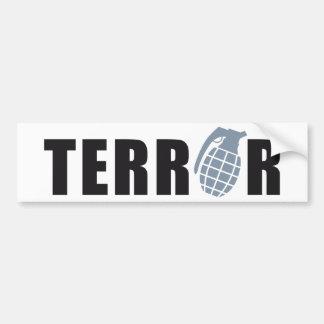 TERROR BUMPER STICKER