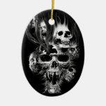 Terror de Halloween - Adorno Navideño Ovalado De Cerámica