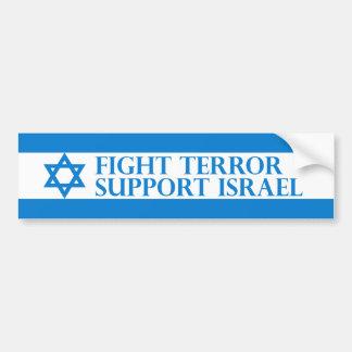 Terror de la lucha, ayuda Israel Etiqueta De Parachoque