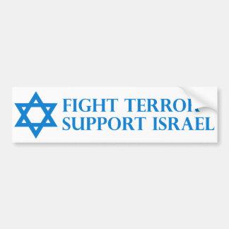 Terror de la lucha, ayuda Israel Pegatina Para Auto
