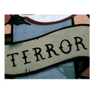 Terror Graffiti Postcard