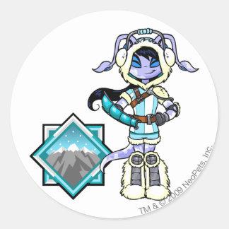 Terror Mountatin Team Captain 1 Classic Round Sticker