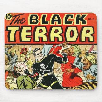 Terror negro cómico tapetes de ratones