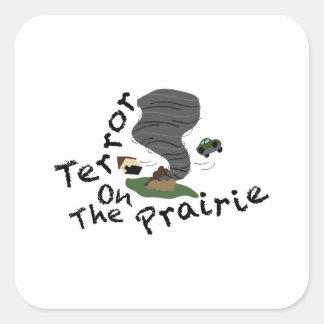 Terror On Prairie Square Sticker