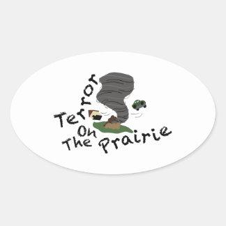 Terror On Prairie Oval Sticker