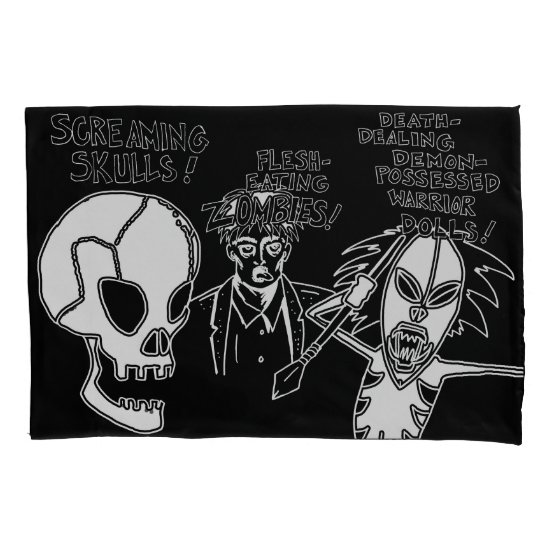Terror Trilogy Cartoon - Skull Zombie Demon Doll Pillow Case