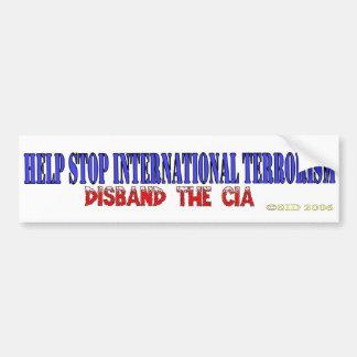 Terrorismo internacional de la parada de la ayuda pegatina para auto