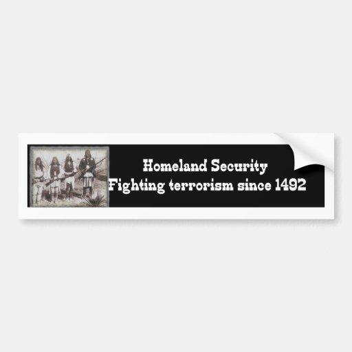 Terrorismo que lucha de la seguridad de patria des etiqueta de parachoque