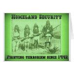 Terrorismo que lucha de la seguridad de patria des tarjetas