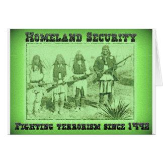 Terrorismo que lucha de la seguridad de patria des tarjeta de felicitación
