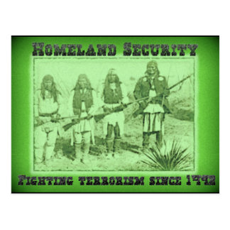 Terrorismo que lucha de la seguridad de patria tarjeta postal