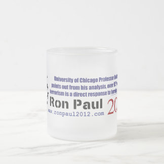Terrorist Attacks Occur Due To Foreign Occupation Frosted Glass Coffee Mug