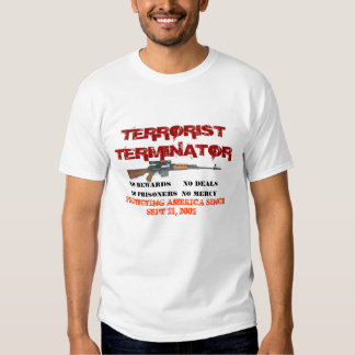 TERRORIST BOUNTY HUNTER T SHIRT