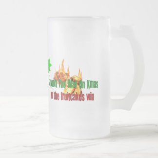 Terrorist Fruitcake Frosted Glass Beer Mug