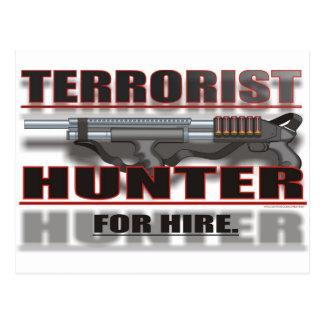 TERRORIST HUNTER FOR HIRE POSTCARD
