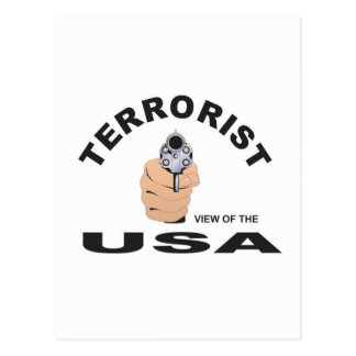 terrorist in the usa postcard