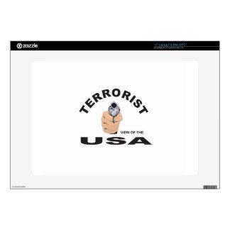 "terrorist in the usa skins for 15"" laptops"