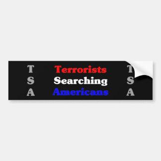 Terrorist Searching Americans Bumper Sticker