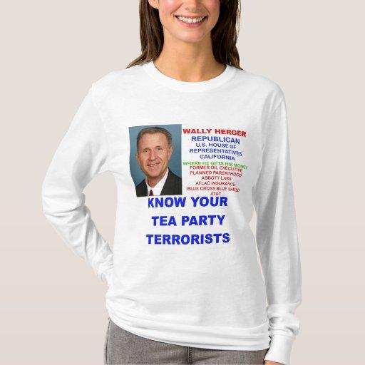 Terrorista de la fiesta del té de Wally Herger Playera