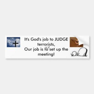 terrorista del juez pegatina para auto