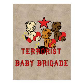 Terrorists Babies Postcard