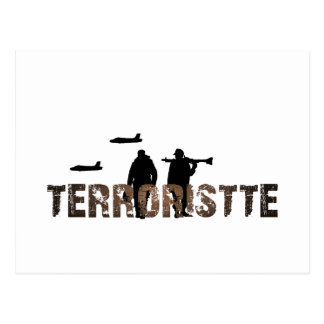 Terroristte fever postcard
