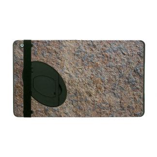 Terroso natural de la pizarra de la roca de la tex iPad carcasa