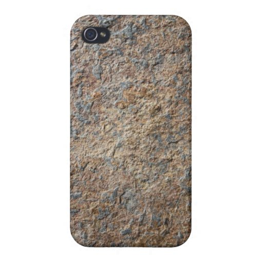 Terroso natural de la pizarra de la roca de la tex iPhone 4 funda
