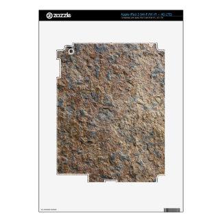 Terroso natural de la pizarra de la roca de la tex pegatina skin para iPad 3