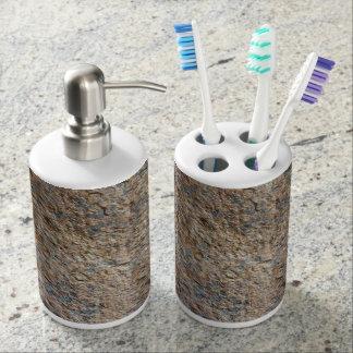 Terroso natural de la textura de la roca de la piz conjuntos de baño