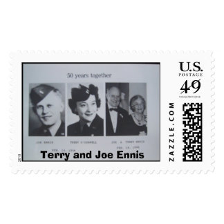 Terry and Joe Ennis Postage Stamp