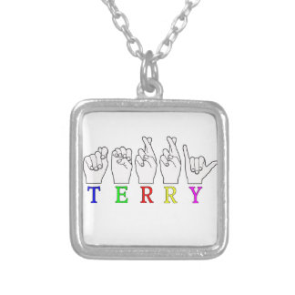 TERRY  ASL FINGERSPELLED NAME SIGN PENDANT
