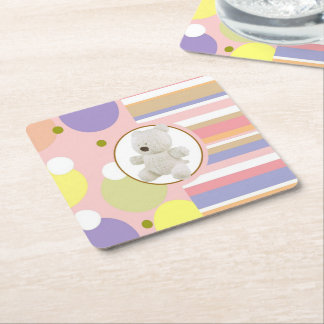 Terry Bear Square Paper Coaster