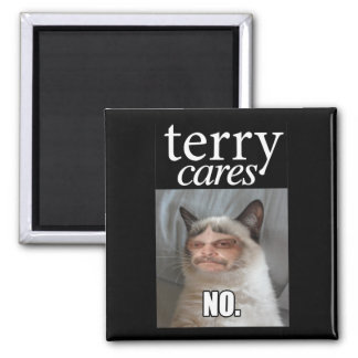 """""""Terry Cares"""" Magnet"""
