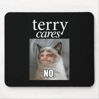 """Terry Cares"" Mousepad"
