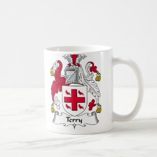 Terry Family Crest Classic White Coffee Mug