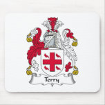 Terry Family Crest Mouse Pad