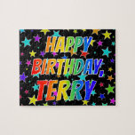 """[ Thumbnail: """"Terry"""" First Name, Fun """"Happy Birthday"""" Jigsaw Puzzle ]"""