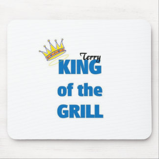 Terry king of the grill mouse pad