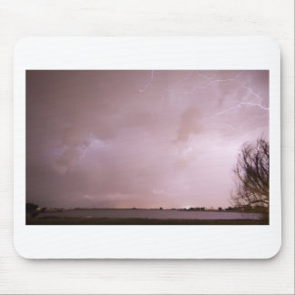 Terry Lake Lightning Thunderstorm Mouse Pad