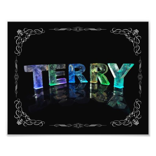Terry  - The Name Terry in 3D Lights (Photograph)