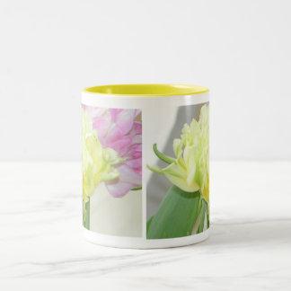 Terryls 2 Single Yellow Flower Two-Tone Coffee Mug