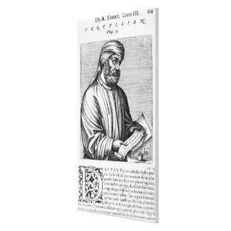 Tertullian, illustration from Andre Thevet's Canvas Print