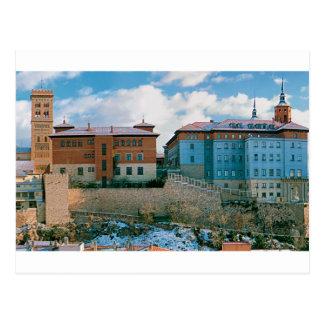 Teruel tower and postal seminary postcard