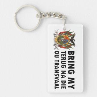Terug na die ou Transvaal: Suid Afrika (Boer) Single-Sided Rectangular Acrylic Keychain