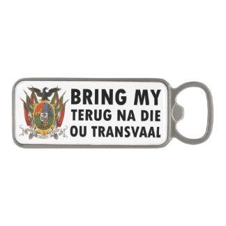 Terug na die ou Transvaal: Suid Afrika (Boer) Magnetic Bottle Opener