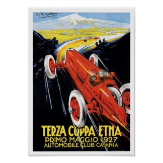 Terza Coppa Etna Automobile Vintage Ad Art Posters