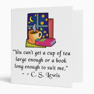 Tés y carpeta de la cita de los libros w, 3 tamaño