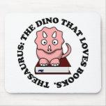 Tesauro: Un dinosaurio que ama los libros de lectu Alfombrillas De Ratones