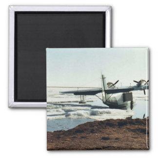 Teshekpuk Lake, Sea Plane, and Camp Refrigerator Magnet